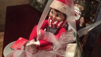 PHOTO: An Elf on the Shelf poses for a portrait.