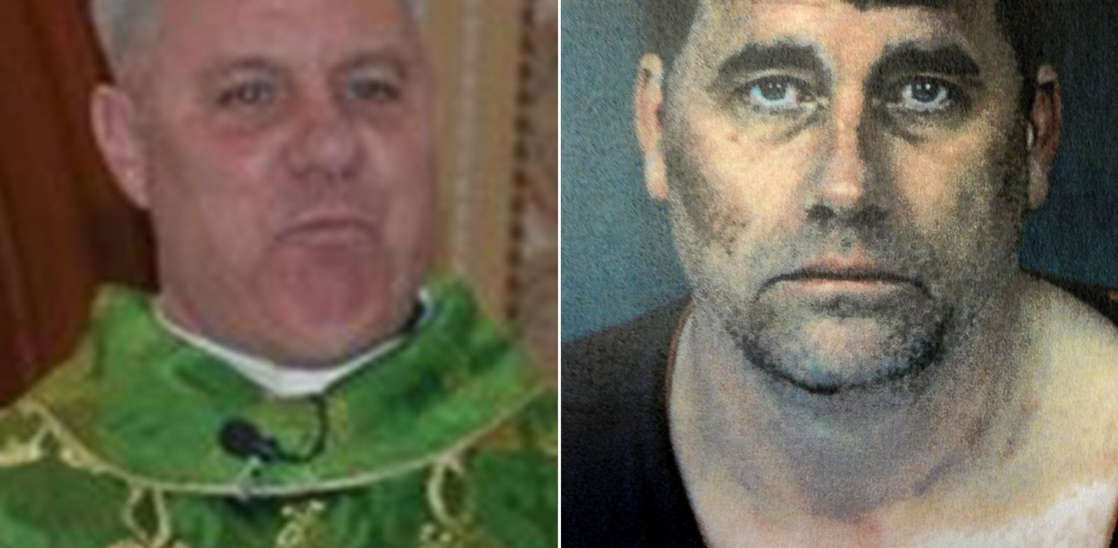 PHOTO: Eureka, Calif., police have issued an arrest warrant for Gary Lee Bullock, right, for the murder of a popular Catholic priest, Eric Freed.