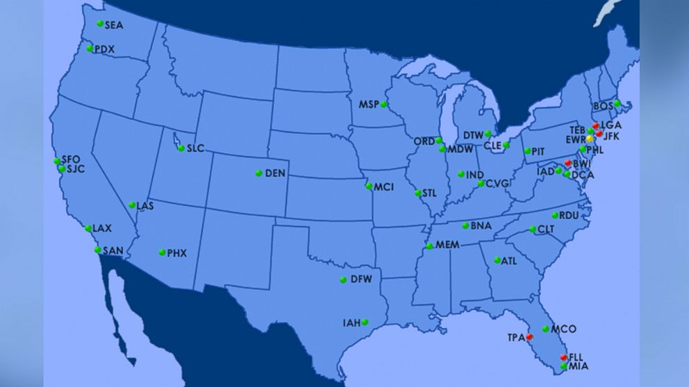 FAA System Back In Service After Air Traffic Center Problem Delays - Air traffic control maps us