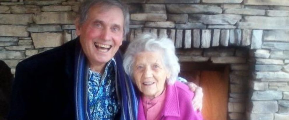 PHOTO:Filimina Rotundo, 100, and her son Gary Rotundo, 74, are pictured together here.