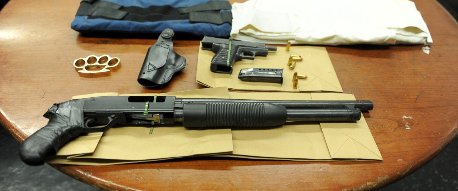 PHOTO: The NYPD said these weapons were confiscated from a suspect who was overheard making threats about killing police.