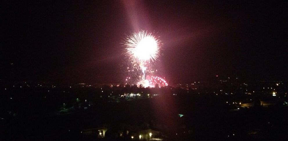 """PHOTO: A fireworks mishap in a town northwest of Los Angeles has left over two dozen people injured after an """"unintended"""" detonation took place during the Fourth of July fireworks display, police said."""