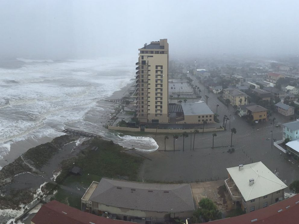 PHOTO: Flooding was visible at the beach in Jacksonville, Florida, Oct ...