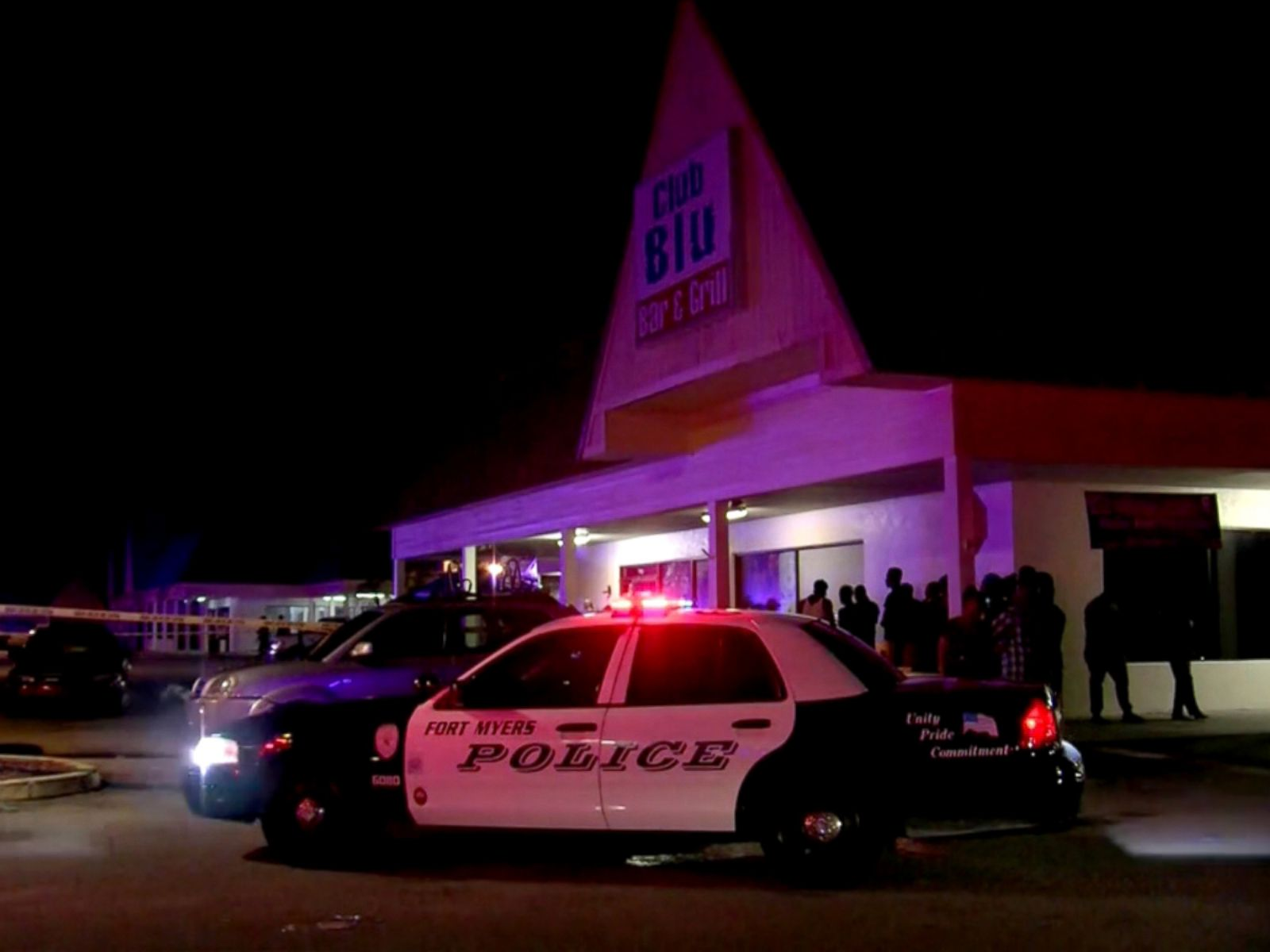 PHOTO: Two people were killed and more than a dozen were injured after a person opened fire during an event geared toward teenagers at Club Blu in Fort Myers, Florida.