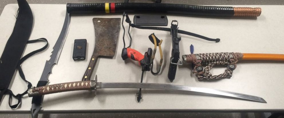 PHOTO: Police in Foxborough, Massachusetts, said several weapons were seized in the Gillette Stadium employee parking lot, Jan. 1, 2016.
