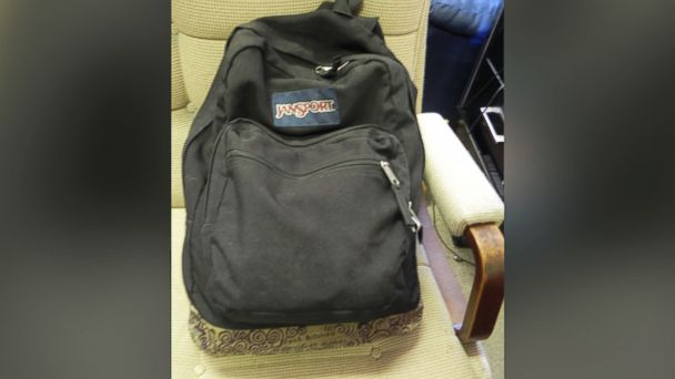 PHOTO: Christian Aguilars backpack was found hidden inside Pedro Bravos backpack.