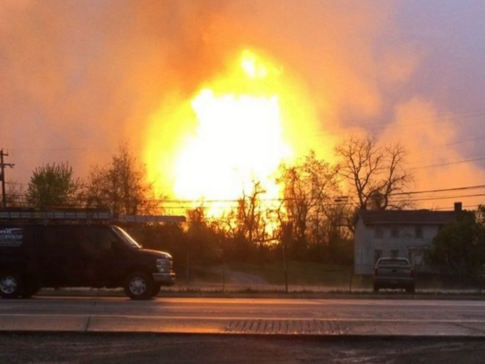 PHOTO: Tonilconrad posted video to Instagram on April 29, 2016 of a gas explosion in Pennsylvania.