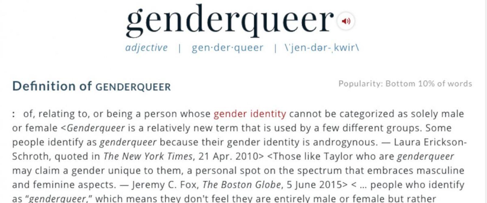 Merriam-Webster Adds Genderqueer, Genderfluid and