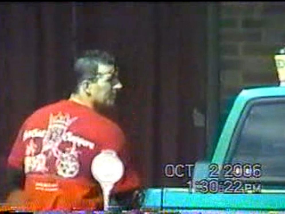 PHOTO: John Caltabiano is seen on surveillance tape getting into a car without any help.