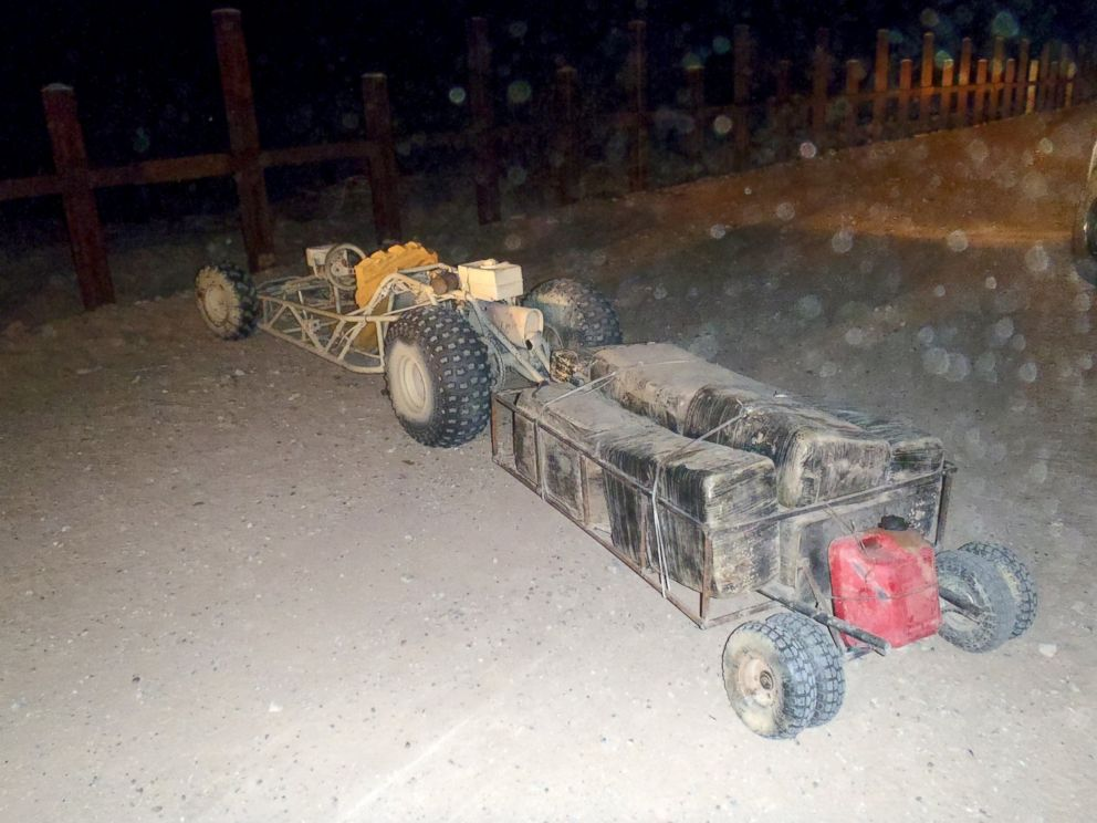 PHOTO: A go-kart was used for smuggling drugs across the Arizona border, which was intercepted in September 2015.