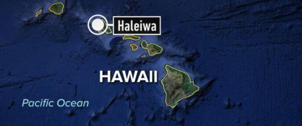 PHOTO: A map is seen here of Haleiwa, Hawaii.