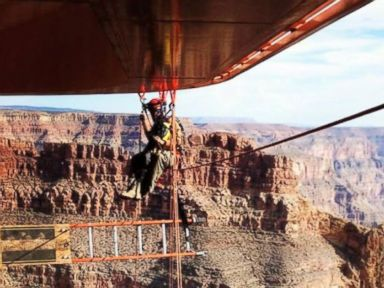 Extreme Skywalk Cleaning Tests Grand Canyon Workers