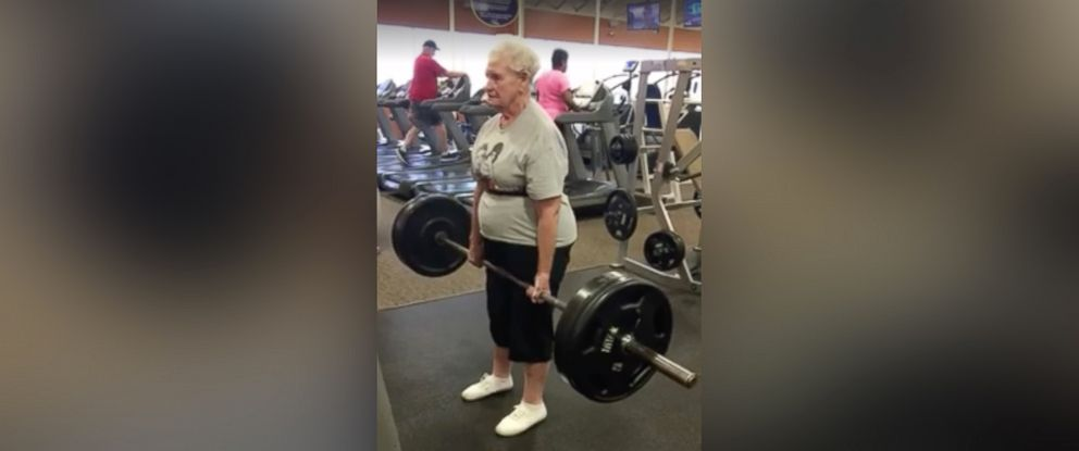 PHOTO: Shirley Webb, 78, has become an internet sensation after a video of her deadlifting 225 pounds at Club Fitness in Wood River, Illinois, surfaced on March 1, 2016.
