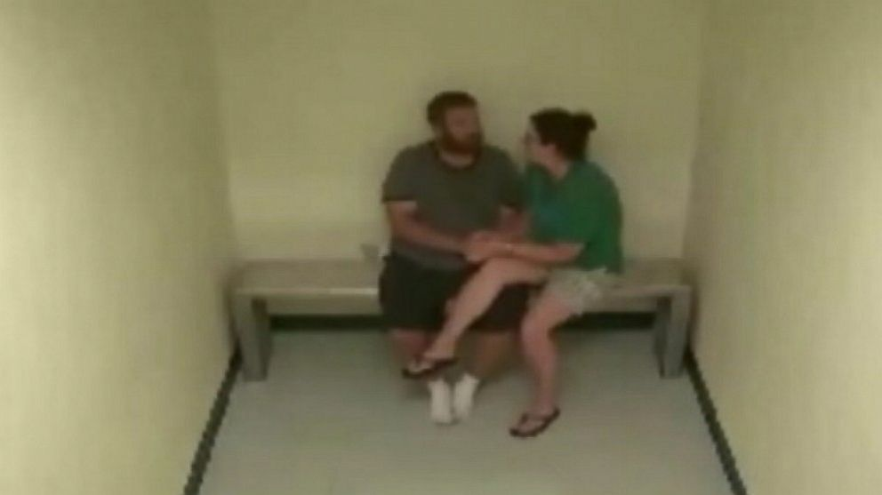PHOTO: Joshua and Sharyn Hakken,seen in a prison surveillance video.