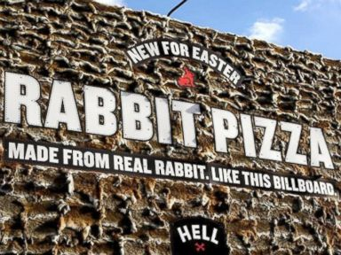 Rabbit With Your Pizza? New Zealand Billboard Combines Them
