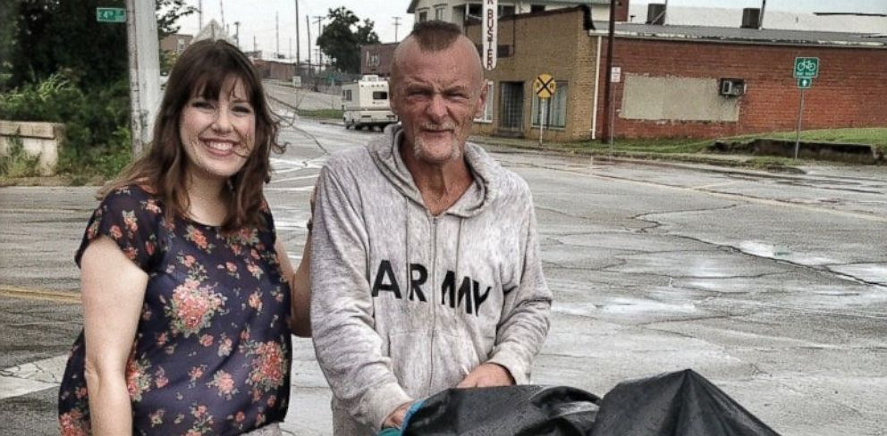 PHOTO: Dr. Hollie Black, 33, of Tulsa, Okla., had her car robbed and a homeless man named Rayburn West found and returned her important medical documents when he found them in the street.