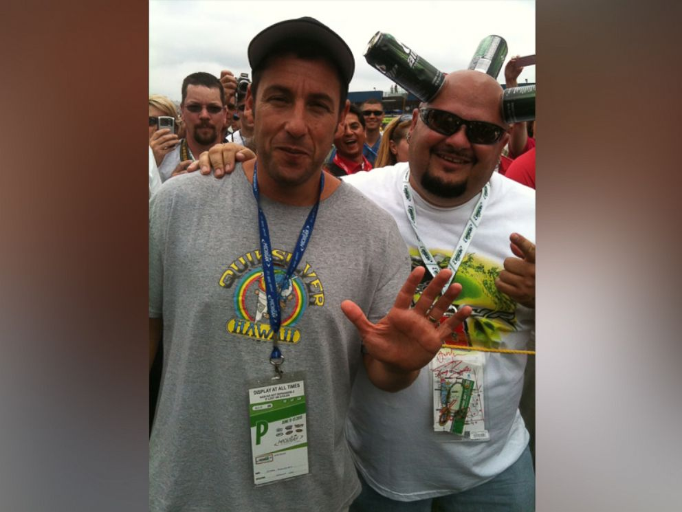 PHOTO: Jamie Canhead Keeton is pictured here with Adam Sandler.