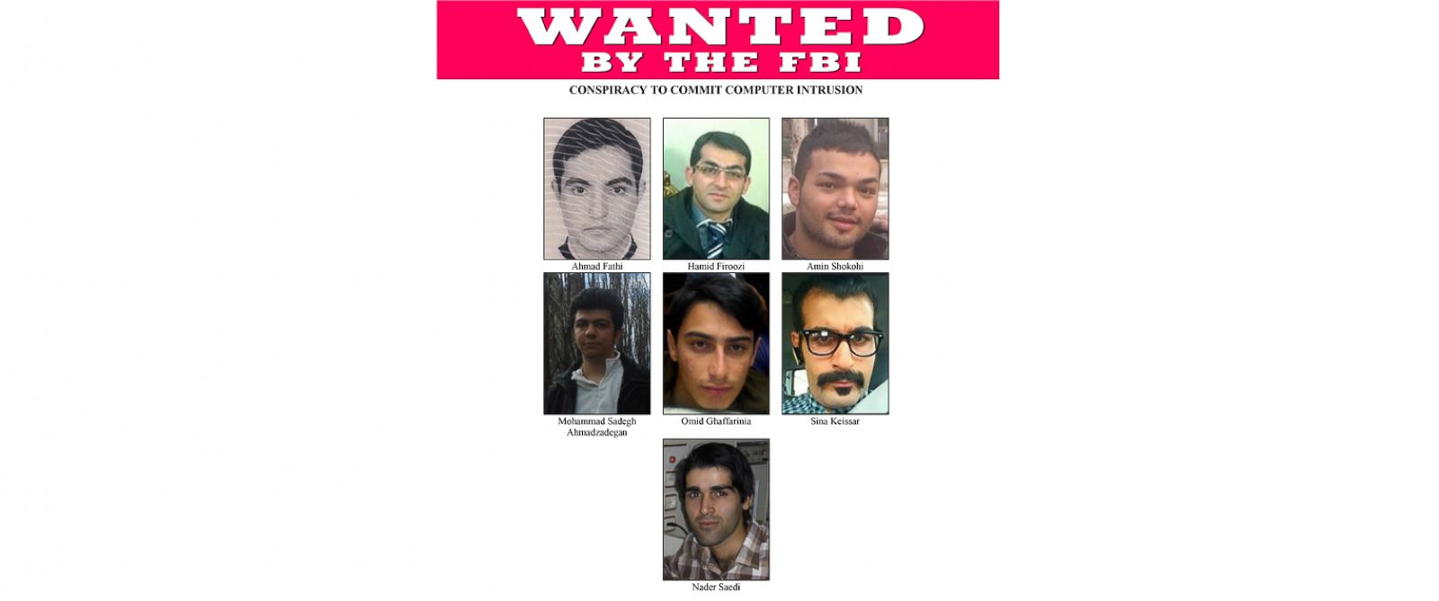 PHOTO: The FBI is seeking seven Iranian nationals after they were indicted by a grand jury, Jan. 21, 2016.