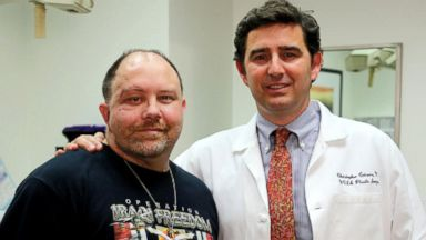 PHOTO: ason March and with Dr. Crisera, Operation Mends co-medical director and associate clinical professor of plastic and reconstructive surgery at UCLA.