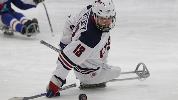 HT joshua sweeney jef 130723 16x9 608 Wounded Marine Is a Rising Star in Sled Hockey