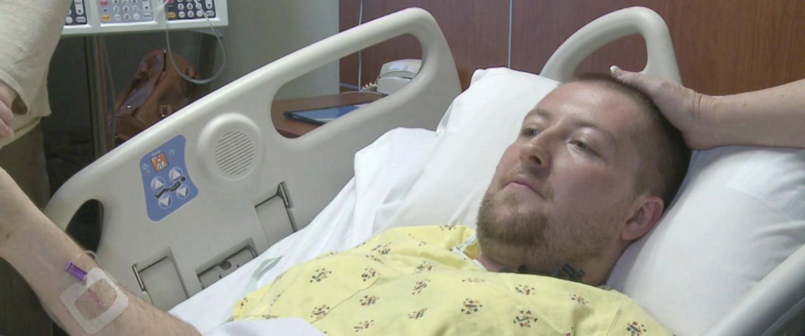 PHOTO: Adam Miller, who was shot four times and survived the deadly shooting at a workplace in Hesston, Kansas, Feb. 25, 2016, spoke about what happened.