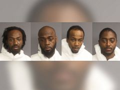 PHOTO: From left: Karif Ford, Hanif Thompson, Kevin Roberts and Henry Basim are being held at Essex County Correctional Facility on $2 million bail each.