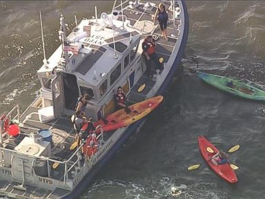 PHOTO: As many as 10 kayakers were hit by a ferry in the Hudson River after it left Pier 79, according to the NYPD.
