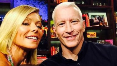 "PHOTO: Kelly Ripa posted this photo on Twitter with this caption: ""Us now! @andersoncooper,"" July 15, 2014."