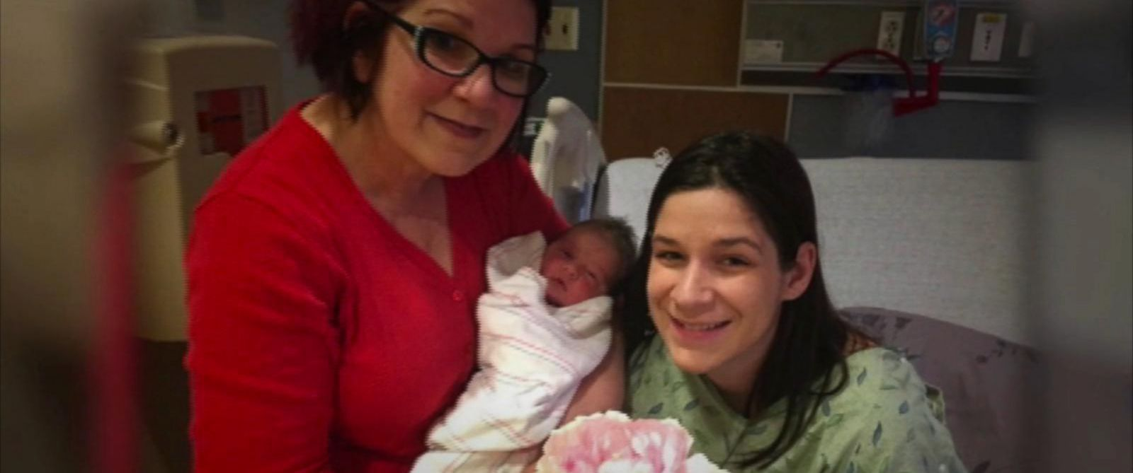 PHOTO: Baby Miracle Joy was born on the same day as her mother, Aimee Hernando and her grandmother, Tammy Pierce on Jan. 18, 2016.
