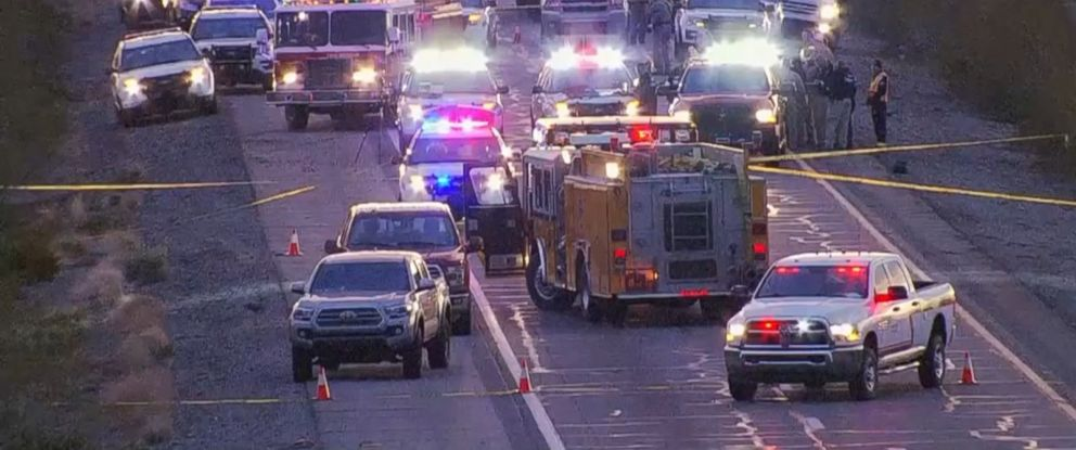 PHOTO: An Arizona trooper was shot in an ambush-style attack by a random suspect, at milepost 81 on Interstate 10, Jan. 12, 2017, in Tonopah, Arizona.