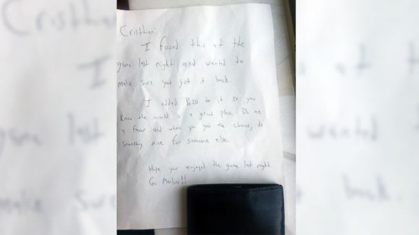 HT letter felix zabala mar 140409 16x9 608 Lost Wallet Returned With $20 and a Heartwarming Note