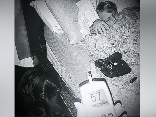 PHOTO:Luke Nuttall, a 7-year-old boy from Glendale, California, is pictured here with his diabetic alert dog named Jedi.
