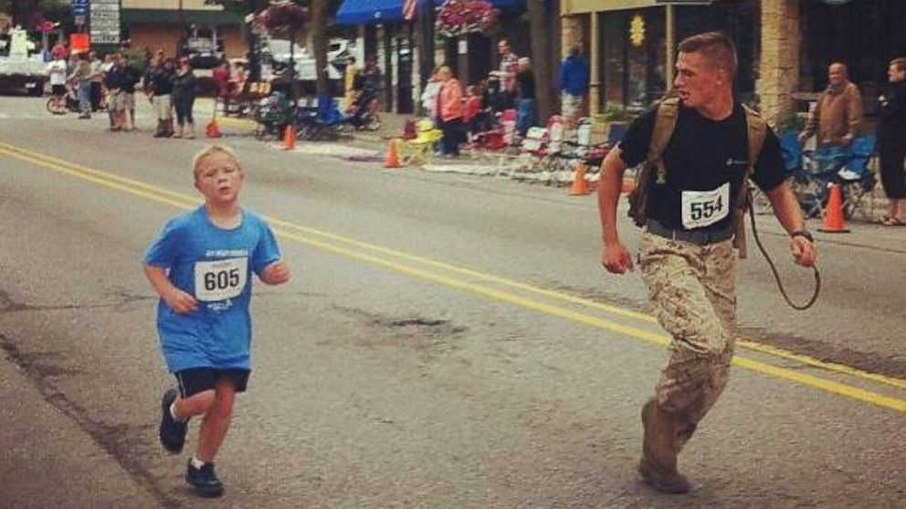 Marine in Viral Photo Rejects 'Hero' Label
