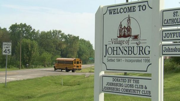 PHOTO: A welcome sign for the village of Johnsburg, Illinois, is seen here.