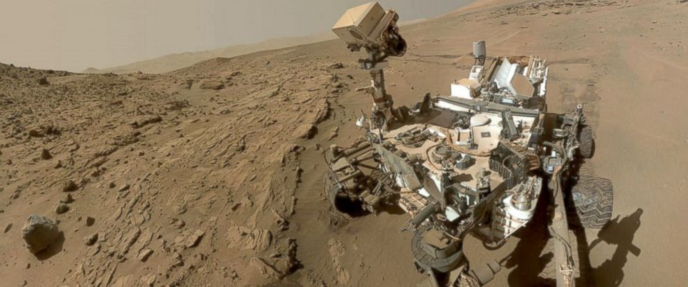 PHOTO: NASAs Curiosity Mars rover used the camera at the end of its arm in April and May 2014 to take dozens of component images combined into this self-portrait, June 23, 2014.