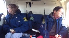 Two Michigan women, missing for almost two weeks, are found and airlifted to safety on Friday, April 24, 2015.PHOTO: