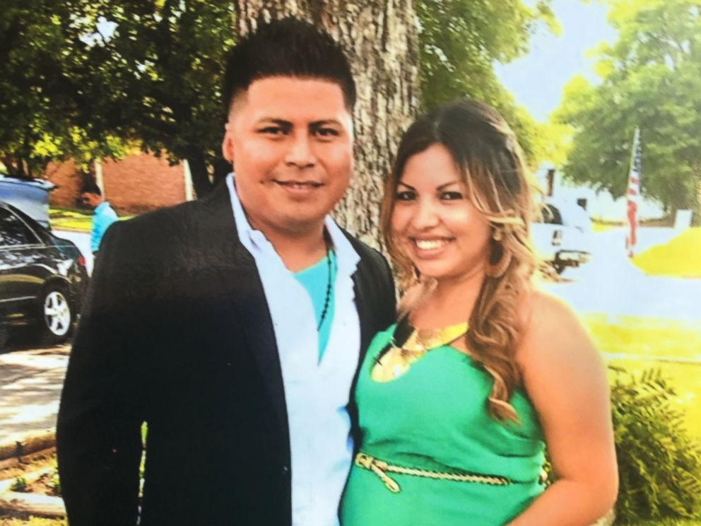 PHOTO: Miguel Angel Honorato, 30, one of the victims, with his wife.