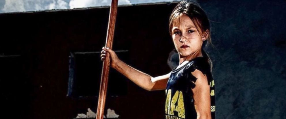 PHOTO: Nine year-old, Milla Bizzotto was the youngest competitor in Battlefrogs 24-hour race designed by Navy Seals. She trains at Focused Movement Academy with her dad and coach, Christian Bizzotto.