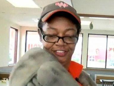 PHOTO: Cheryl Semein got an unexpected thrill when a customer handed over her mink coat