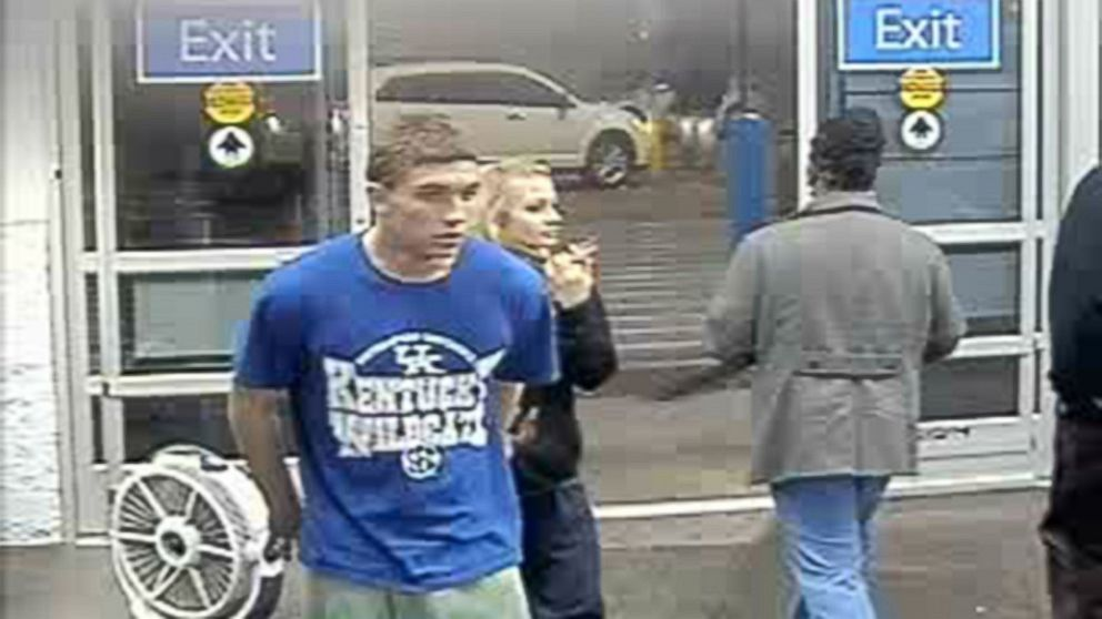 PHOTO: Surveillance images from a Manning, South Carolina, Walmart released Jan. 15, 2015, by the Grayson County, Kentucky Sheriffs Office show Dalton Hayes, 18, and Cheyenne Phillips, 13.