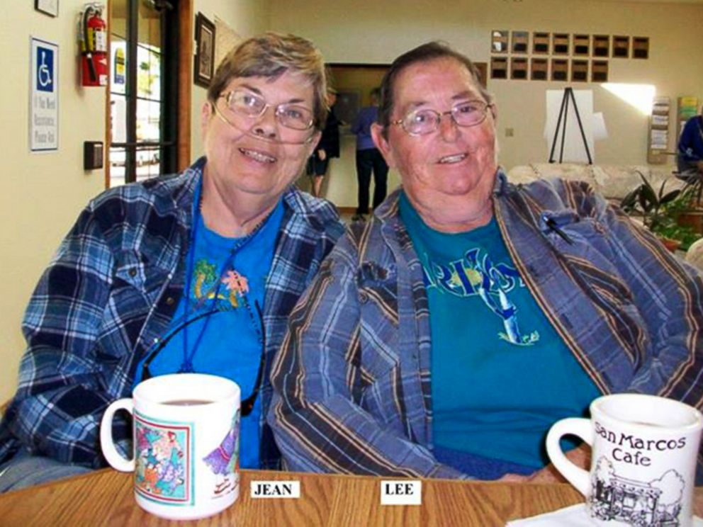 PHOTO: One of the final photos taken of Jean Mixner, left, and wife Madelynn Taylor.