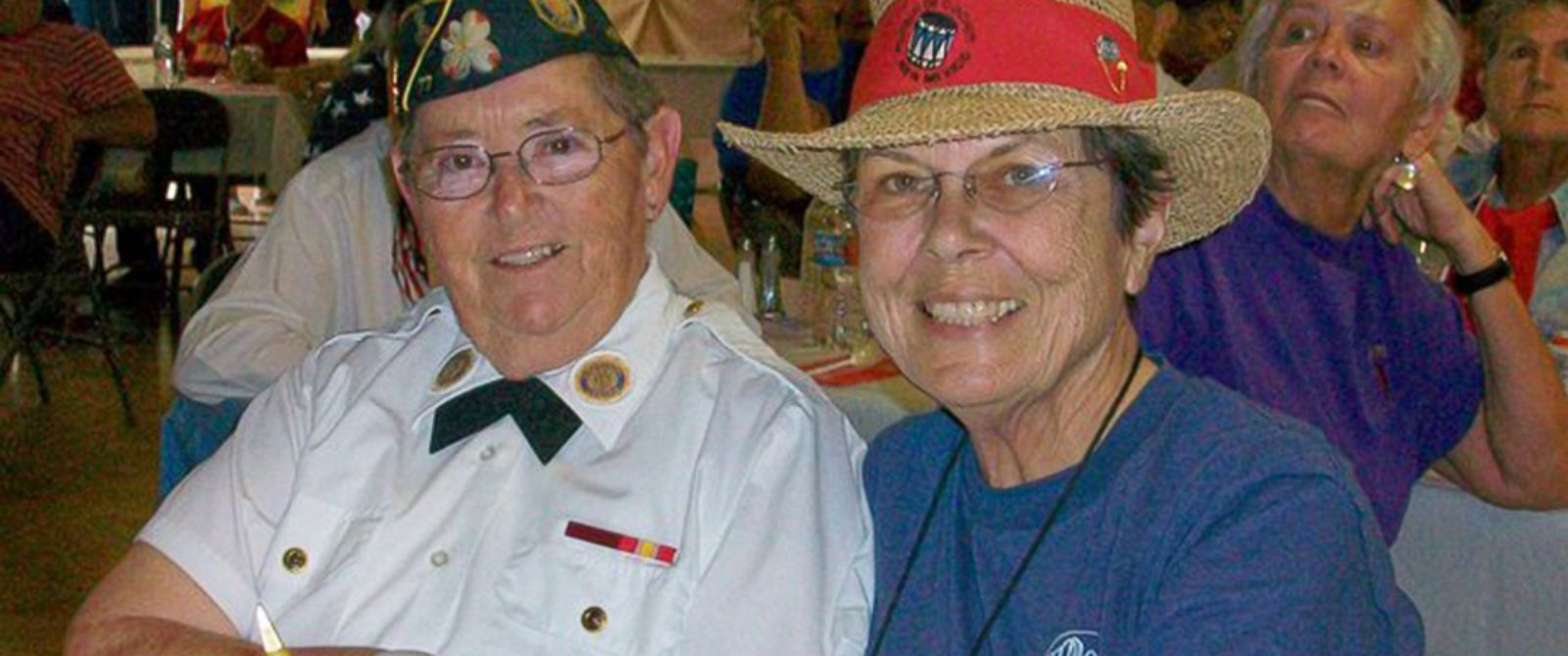 PHOTO: Madelynn Taylor, left, and Jean Mixner. The U.S. Navy veteran is fighting to be buried with Mixner, who died in 2012.