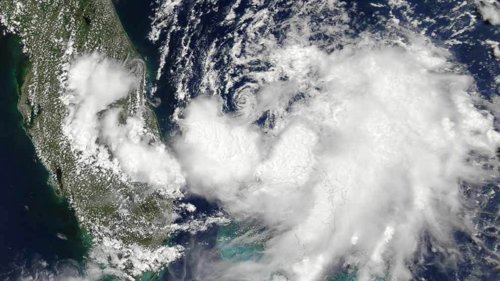PHOTO: NASA released this satellite photo on July 1, 2014, of Tropical Storm Arthur off the coast of Florida. Arthur is he first named Atlantic storm of the 2014 hurricane season.
