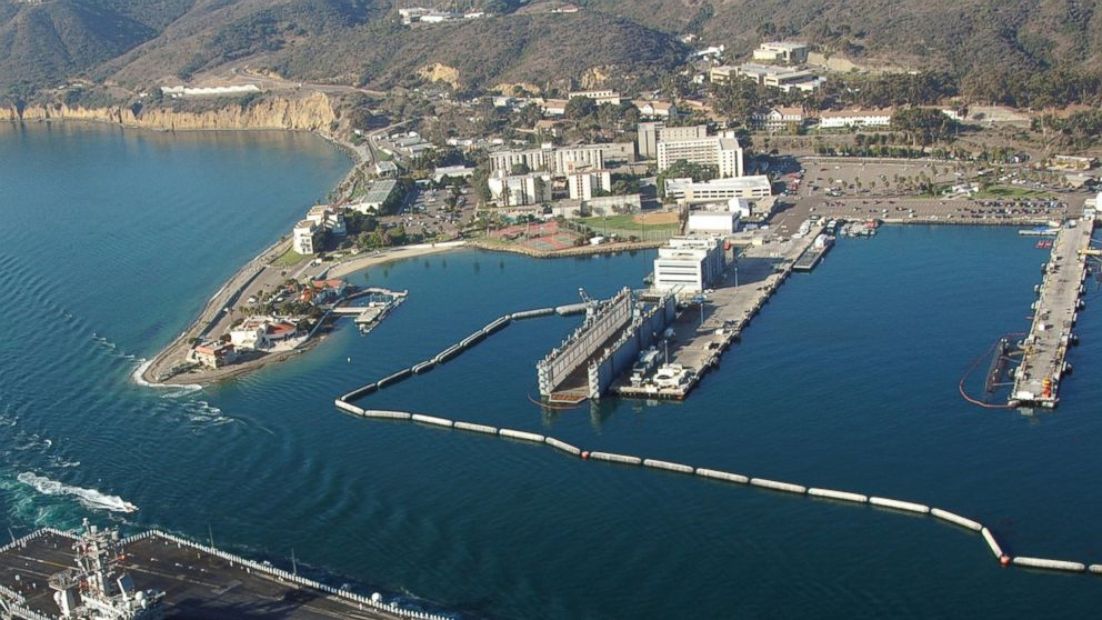 PHOTO: An aerial view of Naval Base Point Loma in San Diego.