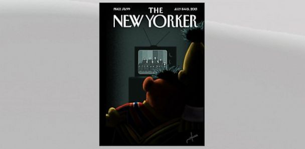 HT new yorker lpl 130628 33x16 608 Bert and Ernie Cuddle Over Supreme Court Ruling
