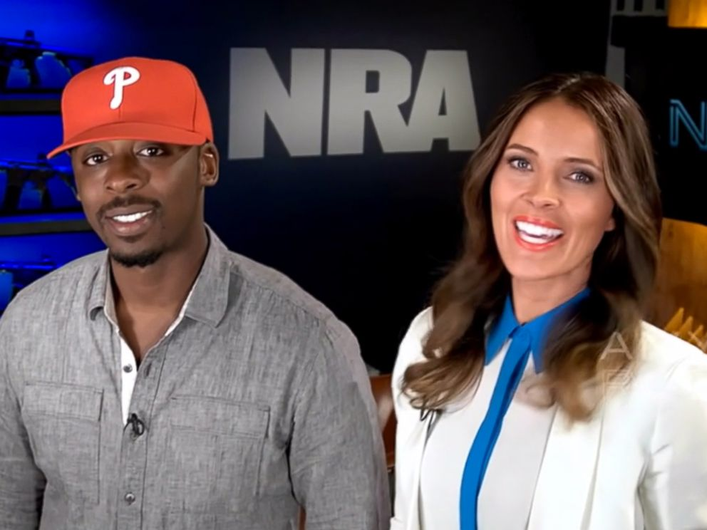PHOTO: Colion Noir and co-host Amy Robbins talk about gun culture on the new NRA series.