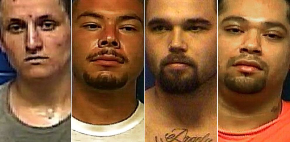 PHOTO: Dylan Ray Three Irons, Prime Tounwin Brown, Anthony Mendonca, and Triston Cheadle have escaped from a county jail Oklahoma.