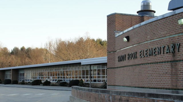 the outside of sandy hook elementary school where a shooting took