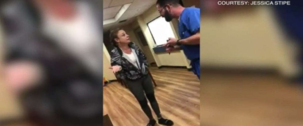 PHOTO: Jessica Stipe posted a video of her altercation with a Florida doctor on Monday.