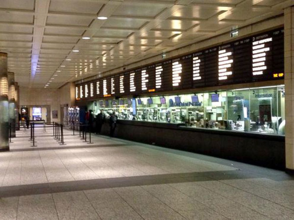 PHOTO: A look at an empty Penn Station as service has been shut down since Monday night due to snowstorm.